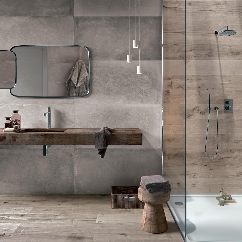 houtlook tegels woonkamer en badkamer portugese tegels
