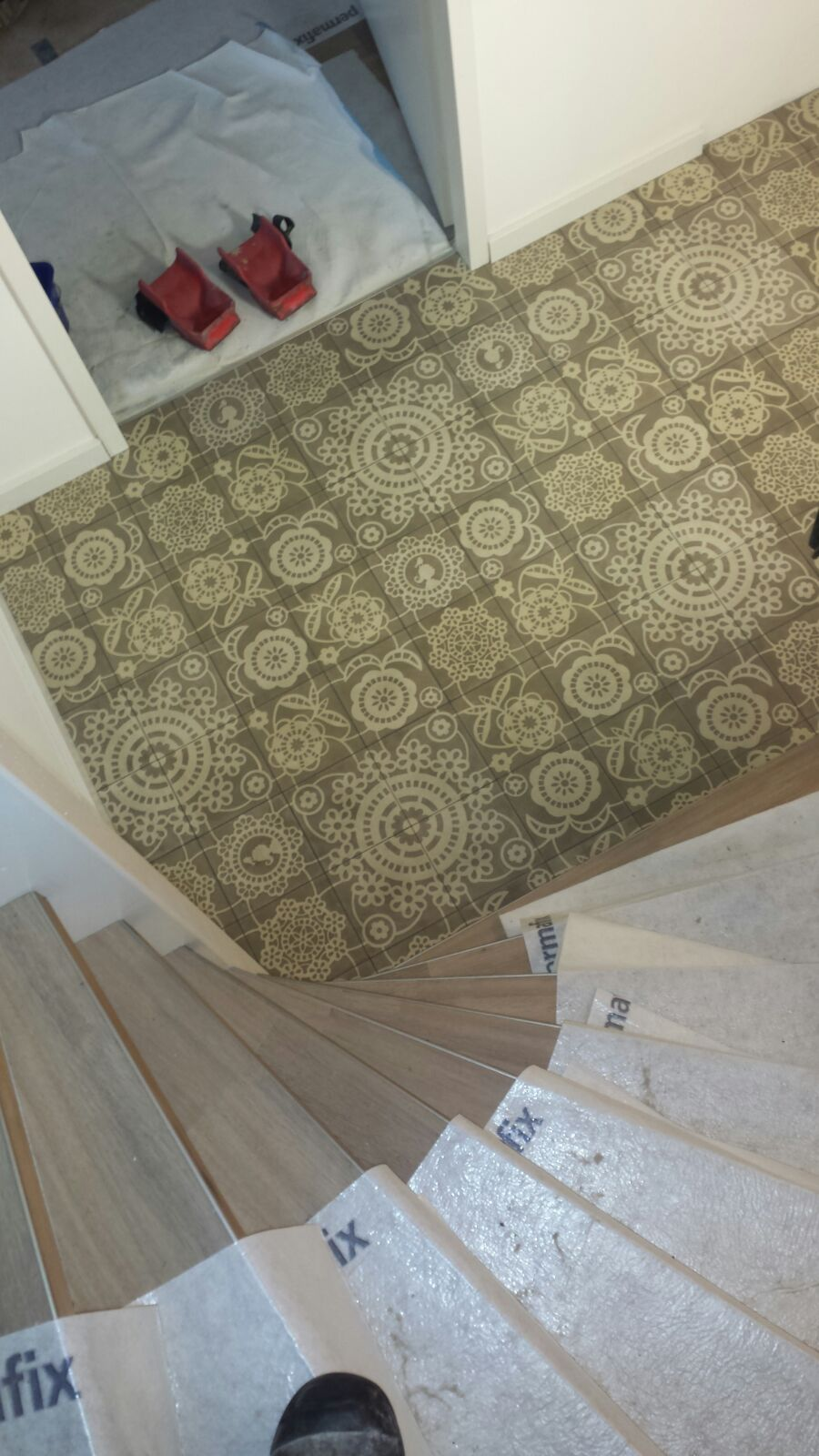 Pip patroon vloer in Hoogezand